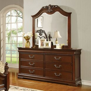 Hazelwood Home 6 Drawer Double Dresser with ..