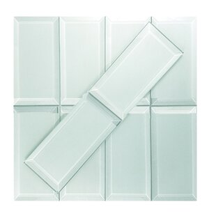Frosted Elegance 3 x 6 Glass Subway Tile in Matte Arctic by Abolos