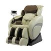cream and black massage chair
