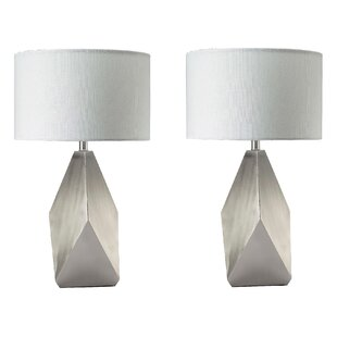 Brasher 19 Table Lamp (Set Of 2) by Orren Ellis Best Choices