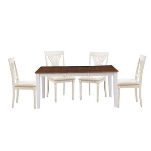 Wahl 5 Piece Extendable Solid Wood Dining..