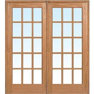 Ordinaire Wood 2 Panel Red Oak Interior French Door