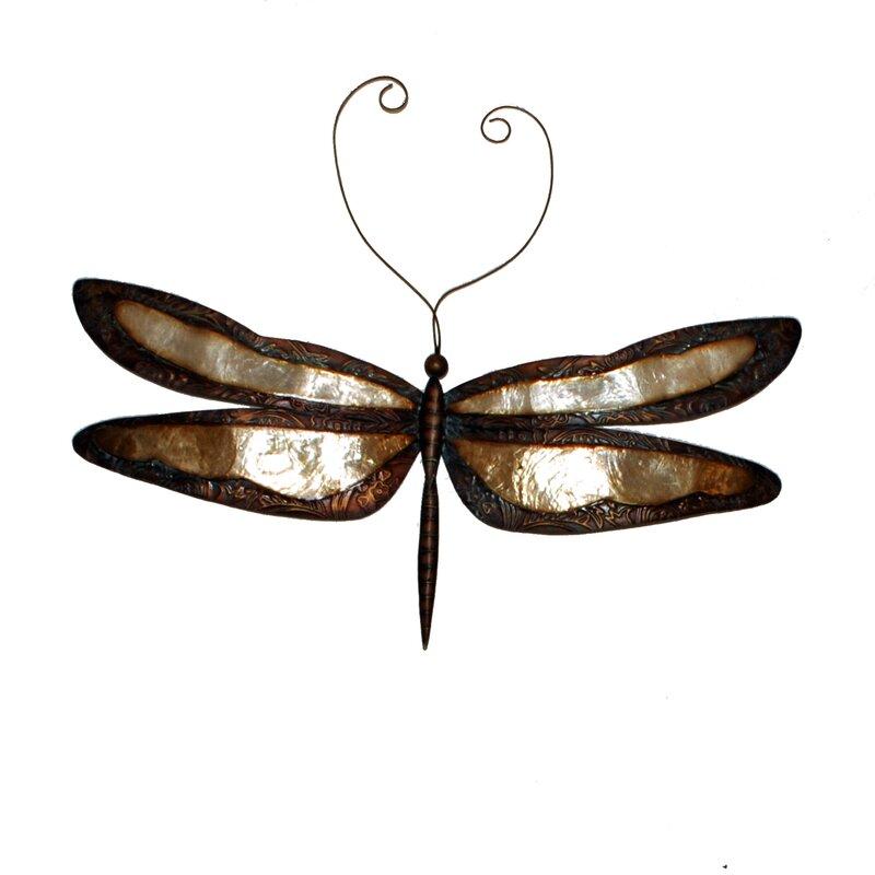 Earthtoned Dragonfly Wall Decor