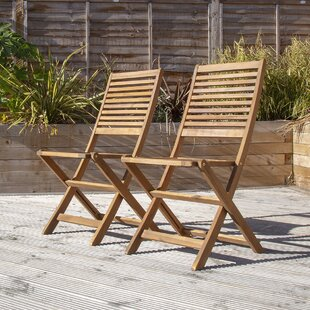 Harwich Wooden Folding Garden Chair (Set Of 2) By Sol 72 Outdoor