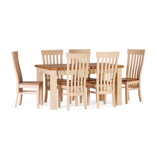 Aaru Dining Set with 6 Chairs by Brick & Barrow