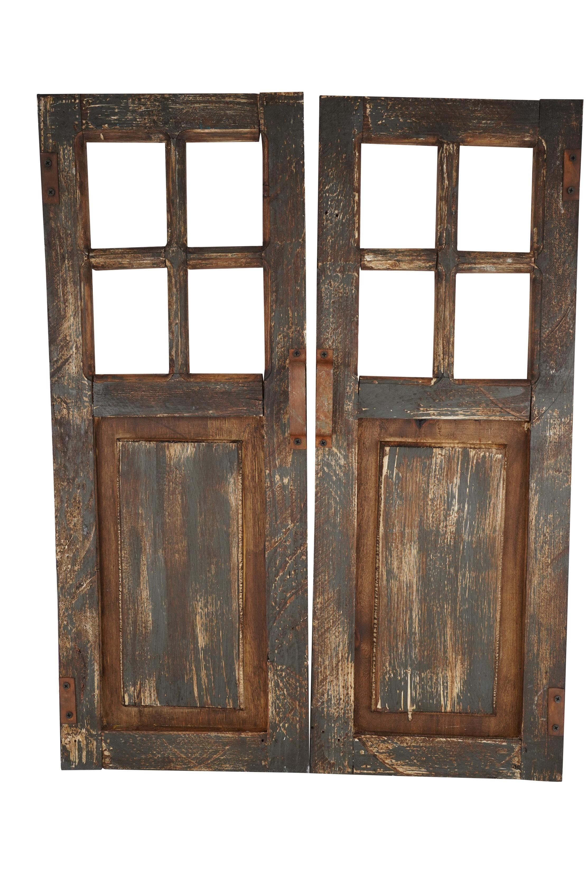Rosalind Wheeler 2 Piece Decorative Wooden Doors Wall Decor Set Wayfair