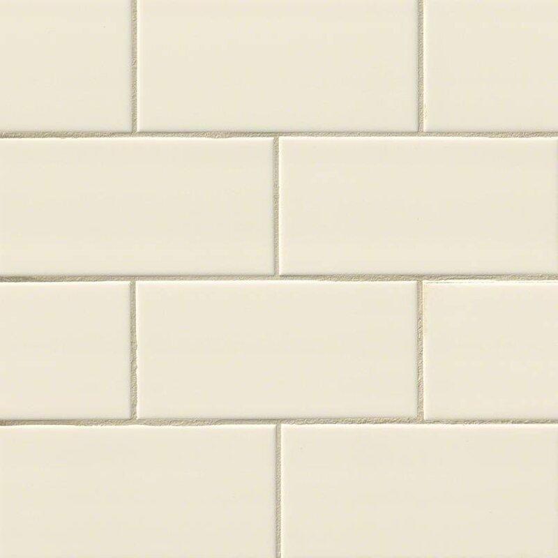 Almond Glossy 3 X 6 Ceramic Subway Tile In Beige