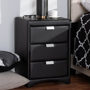Affordable Price Sinead 3 Drawer Nightstand by Ebern Designs
