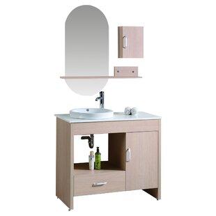 Mcgowan 39 Single Bathroom Vanity Set with Mirror and Cabinet by Orren Ellis