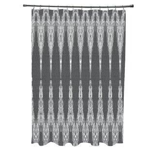 Lassiter Geometric 12- Button Single Shower Curtain