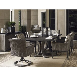 Tommy Bahama Home Blue Olive 7 Piece Dining Set with Cushions