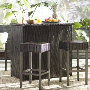 Sugarmill Outdoor Wicker Bar Set