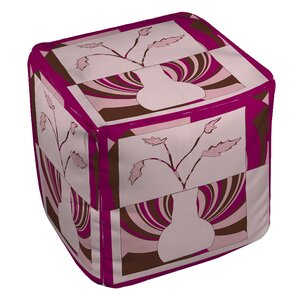 Minimalist Flowers 1 Ottoman by Manual Woodw..
