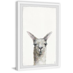 Jaydon Mischievous Llama Framed Art by Viv   Rae