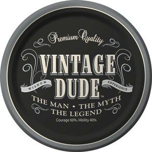 Vintage Dude Dessert Plates (Set of 8)