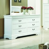 Guillemette 6 Drawer Double Dresser by Alcott Hill®