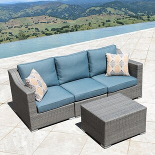 Bowser 4 Piece Sofa Seating Group with Cushions