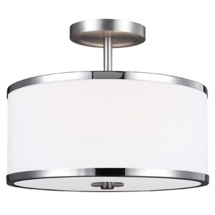 Latitude Run Gladys 2-Light Semi Flush Mount