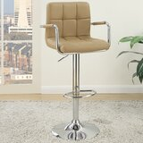 Bootle Adjustable Height Swivel Bar Stool (Set of 2) by Ebern Designs