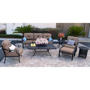 Nola 7 Piece Sunbrella Sofa Set with Cushions by Darby Home Co
