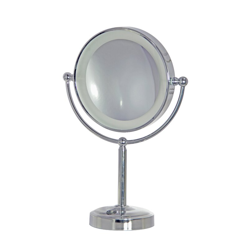 House Of Hampton Alvares Rechargeable Modern Beveled Lighted Magnifying Makeup Mirror Wayfair
