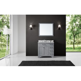 Cassel 36 Single Bathroom Vanity Set with Mirror By Highland Dunes