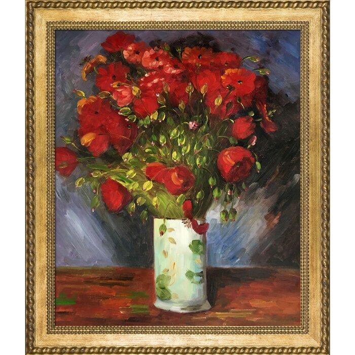 Poppy Field Van Gogh 1890 Fade Resistant HD Art Print or Canvas Poppies