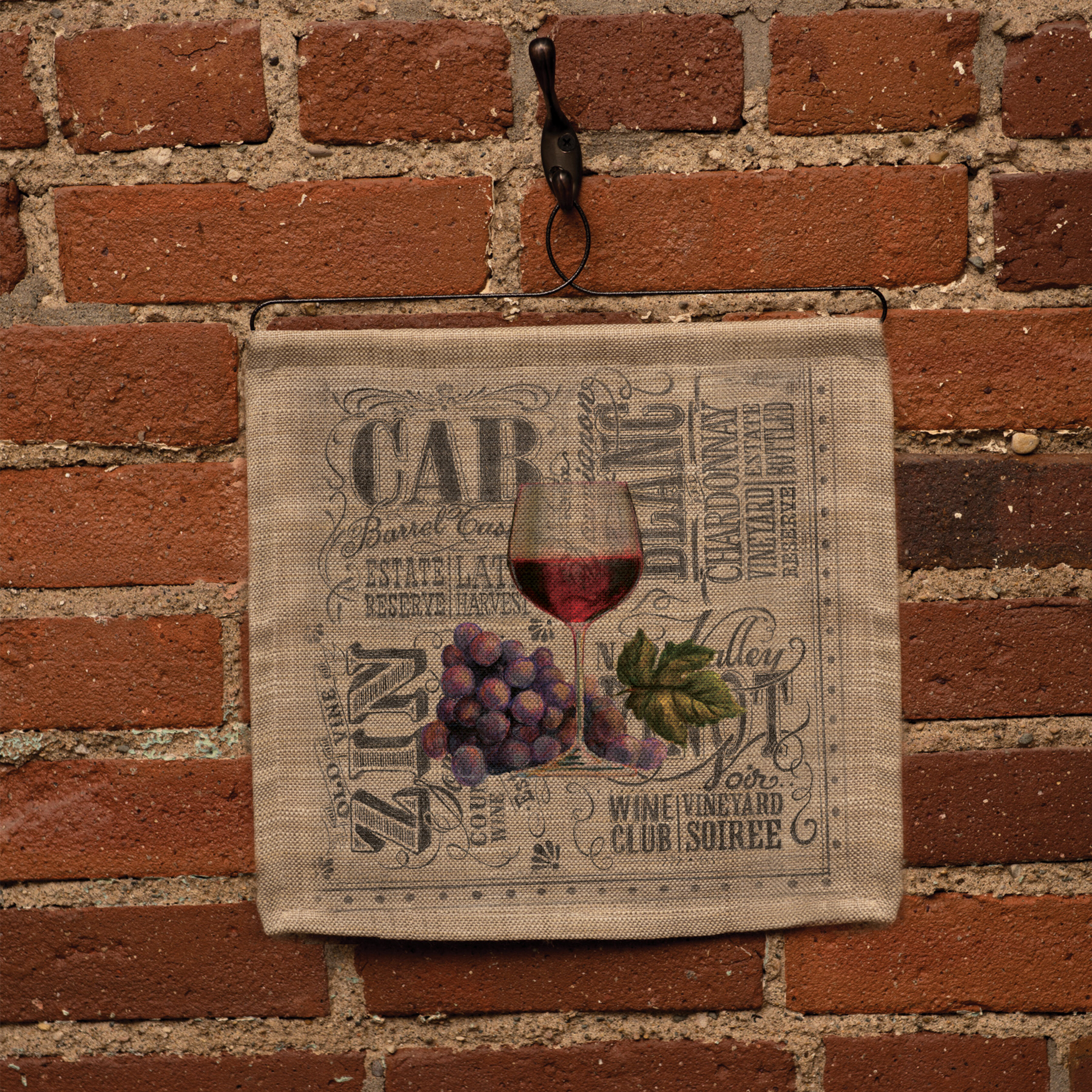 Fleur De Lis Living Cotton Wine Wall Hanging With Rod Included Wayfair Ca