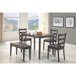 Horrell 5 Piece Dining Set with Bench by Winston Porter