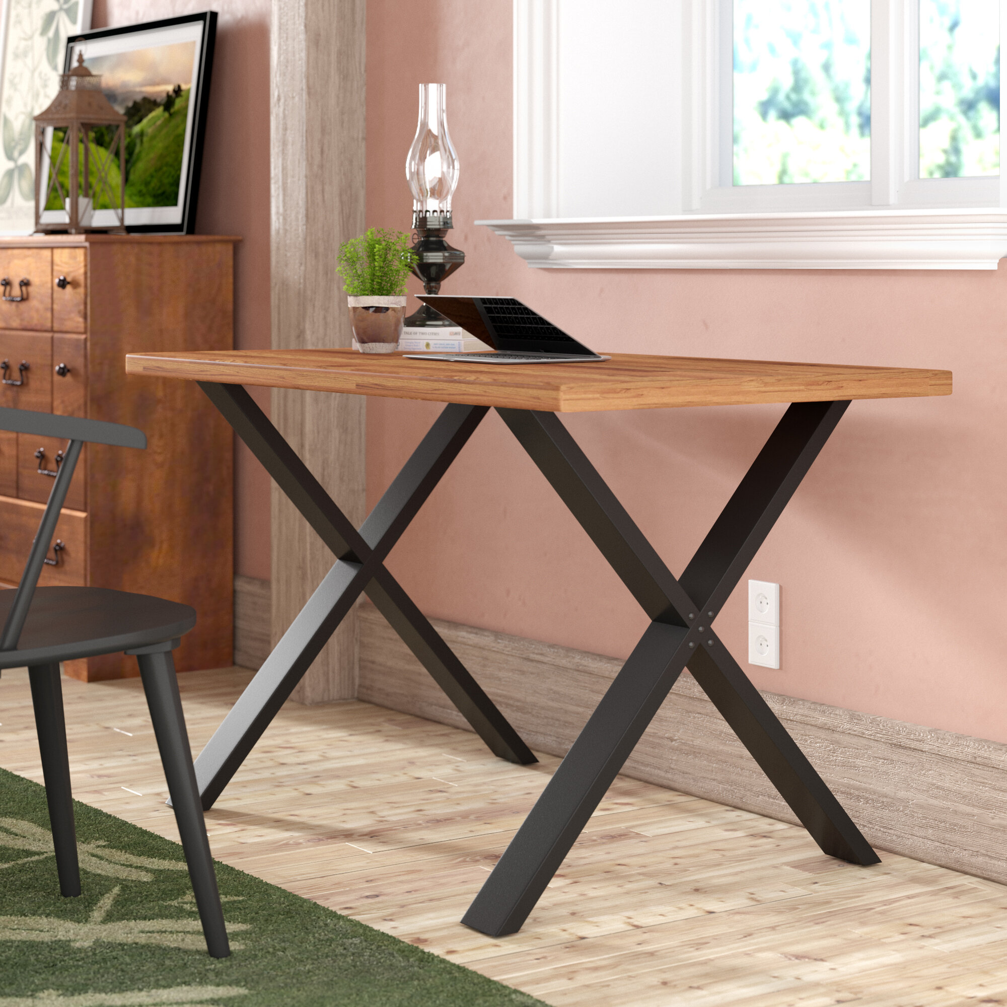 Stupendous Bridgwater Solid Wood Desk Download Free Architecture Designs Scobabritishbridgeorg
