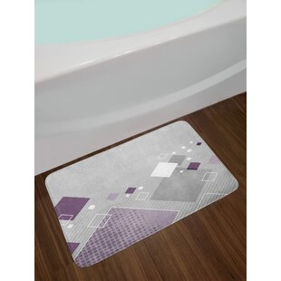 Geometric Composition Abstract Bath Rug