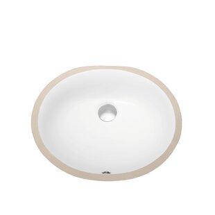 Affordable Ceramic Oval Undermount Bathroom Sink with Overflow ByDawn USA