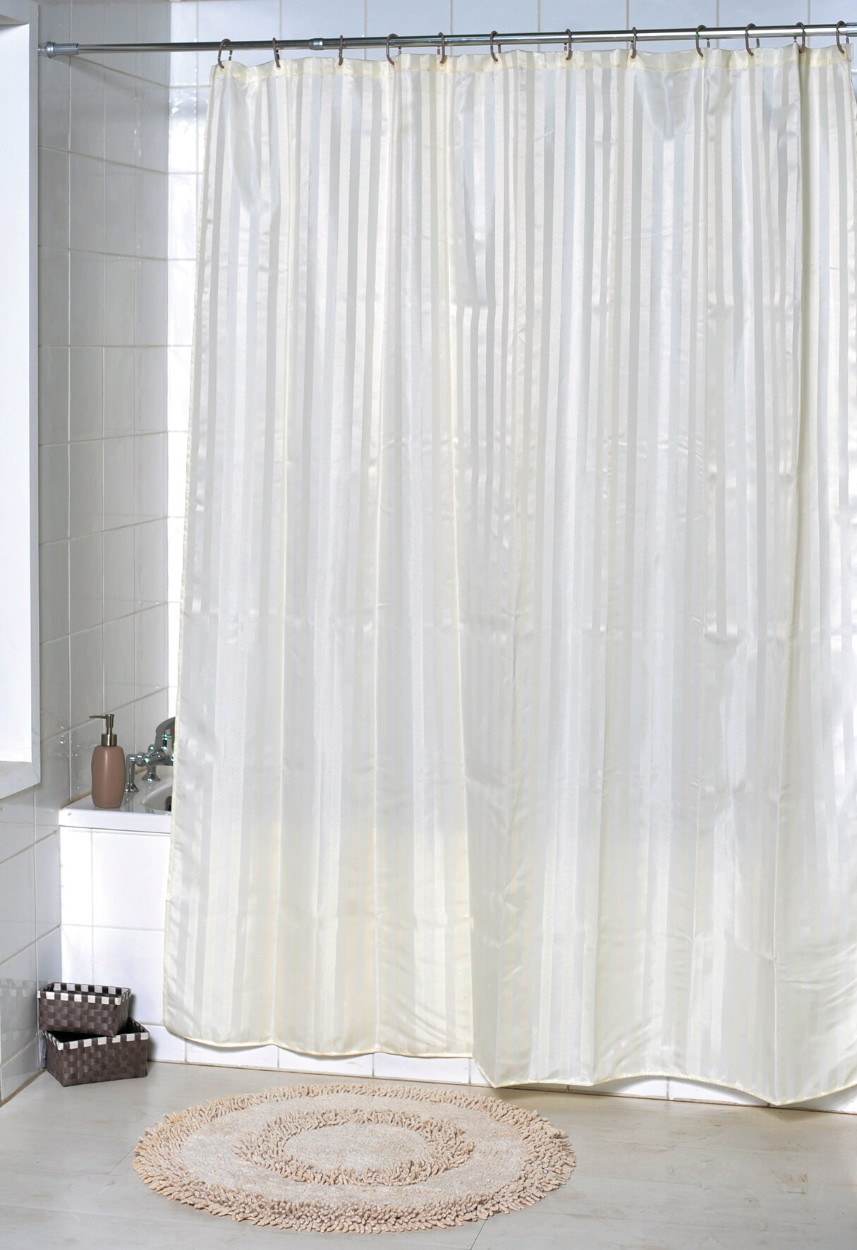 Vertical Stripes Single Shower Curtain