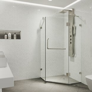 Shower 36.13 inch  x 73.375 inch  Neo-Angle Hinged Shower enclosure