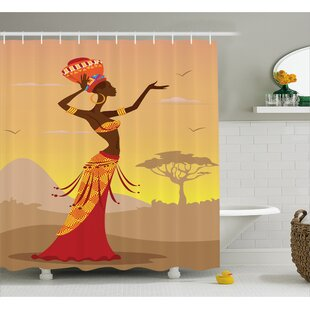 Avia Desert Gulls Folk Decor Single Shower Curtain