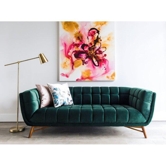 Clarisse Mid Century Modern Chesterfield Sofa