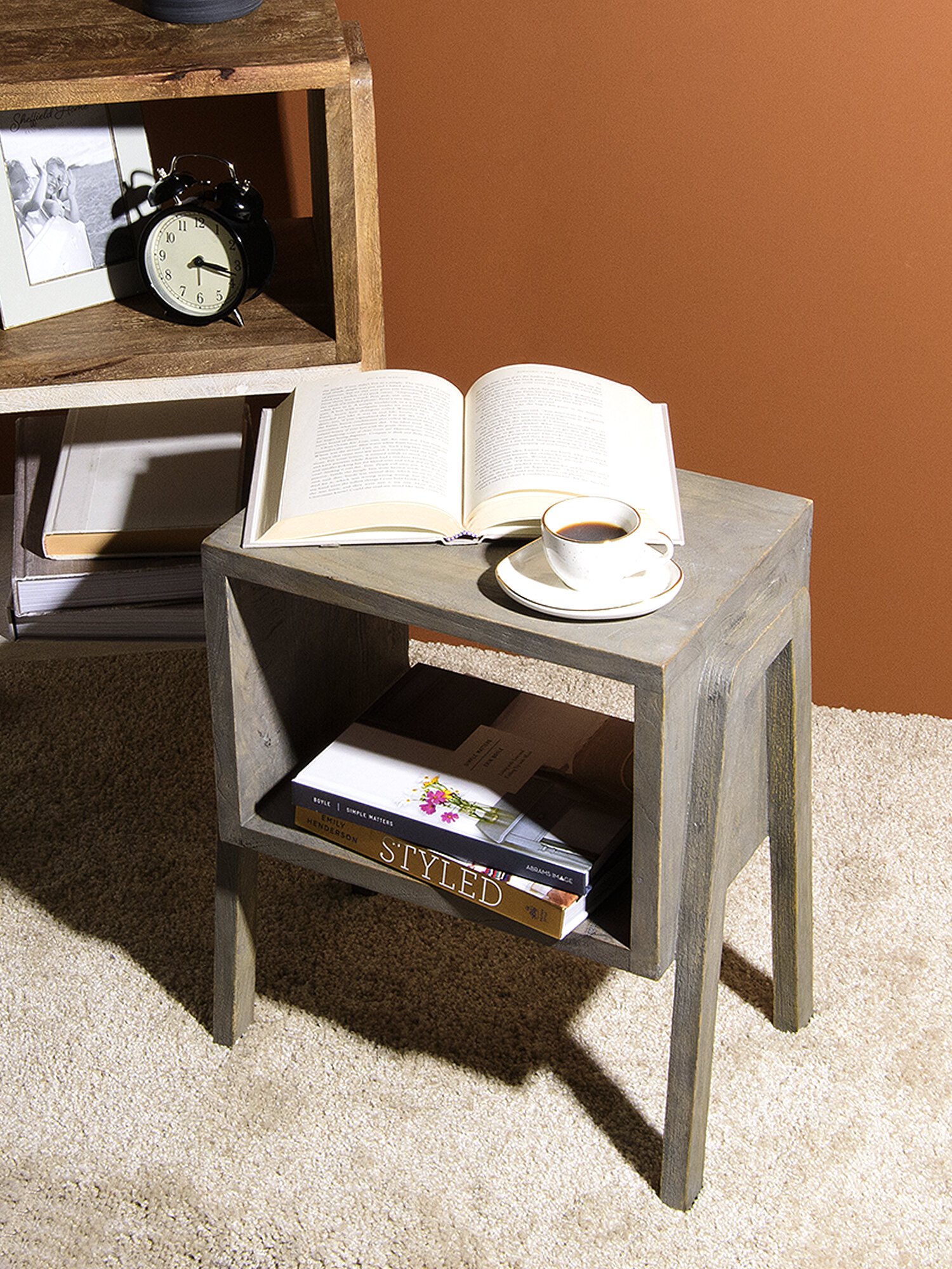 Adorable Style Oak Effect 2 Shelf Unit Side Table Sofa//Coffee//Bedside//Storage Trolly Table for Home,Living Room,Office Furniture