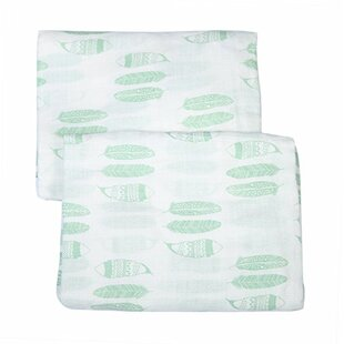 Glenni Feathers Muslin Fitted Crib Sheets (Set of 2) By Harriet Bee