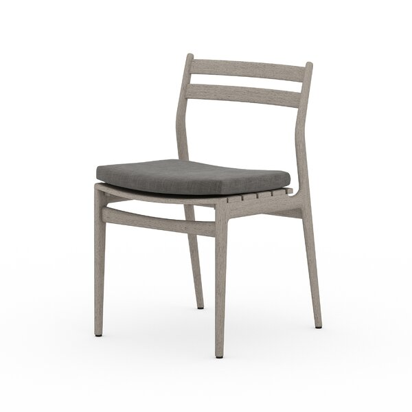 Cremont Teak Patio Dining Chair With Cushion Joss Main