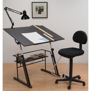 Offex Zenith Drafting Table with Chair Set