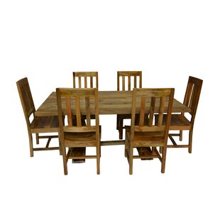 Harley 7 Piece Dining Set Millwood Pines