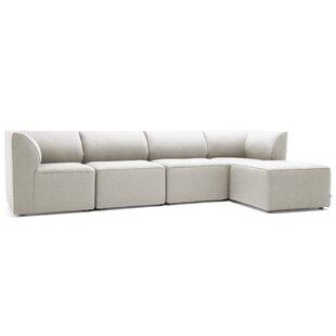 Comfort Research Big Joe Lux 5 Piece Sectional Set