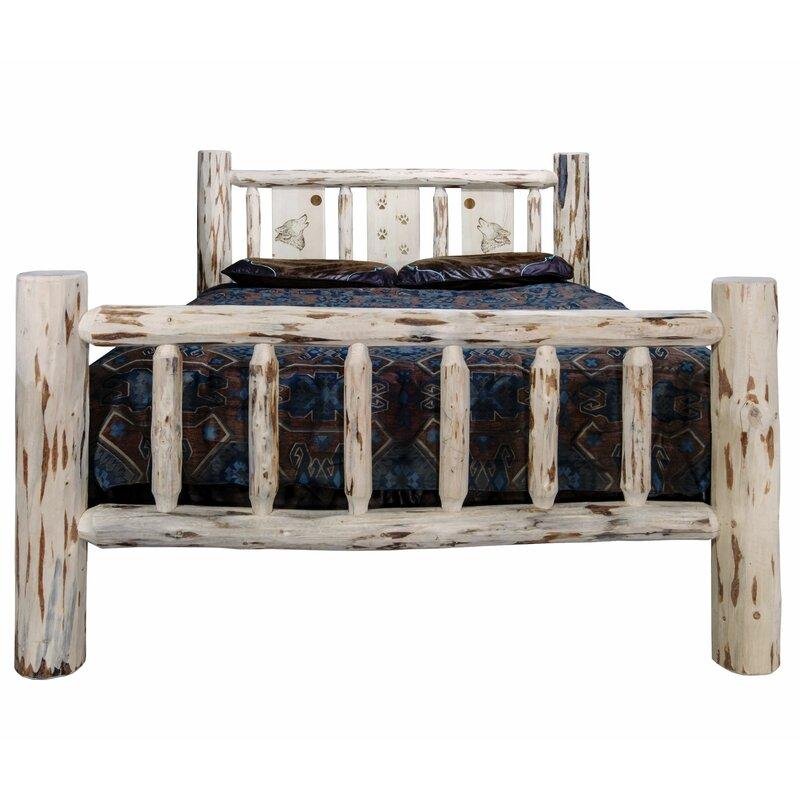 Millwood Pines Antigo Laser Engraved Wolf Standard Bed Wayfair