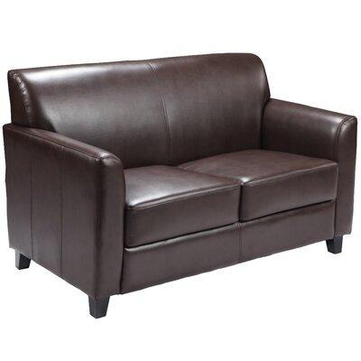 Remarkable Red Barrel Studio Letcher Diplomat Series Leather Loveseat Machost Co Dining Chair Design Ideas Machostcouk