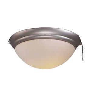 Universal 1-Light Bowl Ceiling Fan Light Kit