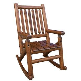 Amber-Log Single Porch Rocking Chair