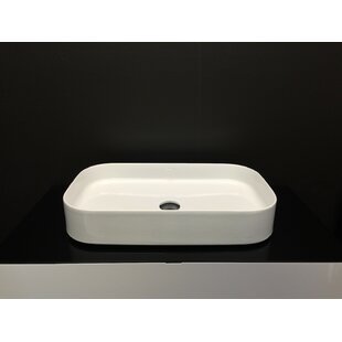Ceramic Rectangular Vessel Bathroom Sink ByMaestro Bath