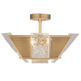Fine Art Lamps Crownstone 4-Light Semi-Flush Mount