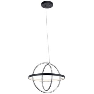 Eyre Orb 1-Light LED Globe Pendant by Orren Ellis