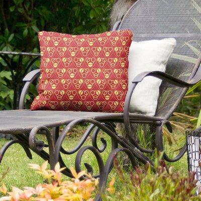 Jordao Circles Waves Indoor/Outdoor Throw Pillow by Brayden Studio Today Sale Only